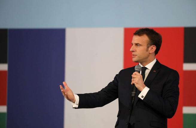 French president Emmanuel Macron (AFP)