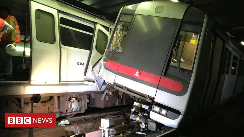 Hong Kong subway trains collide amid new signal system trials