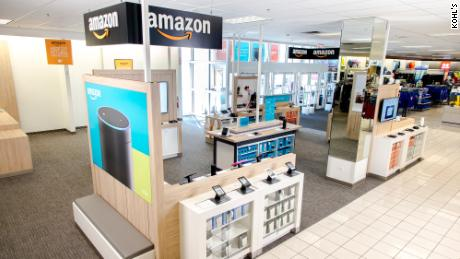 Early in its partnership with Amazon, Kohl's opened mini-shops at select stores.
