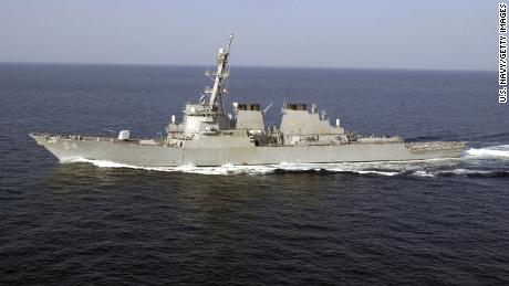 The Aegis-class destroyer USS Curtis Wilbur sails November 18, 2001 in support of Operation Enduring Freedom.