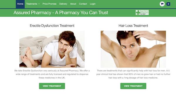 Assured Pharmacy website image