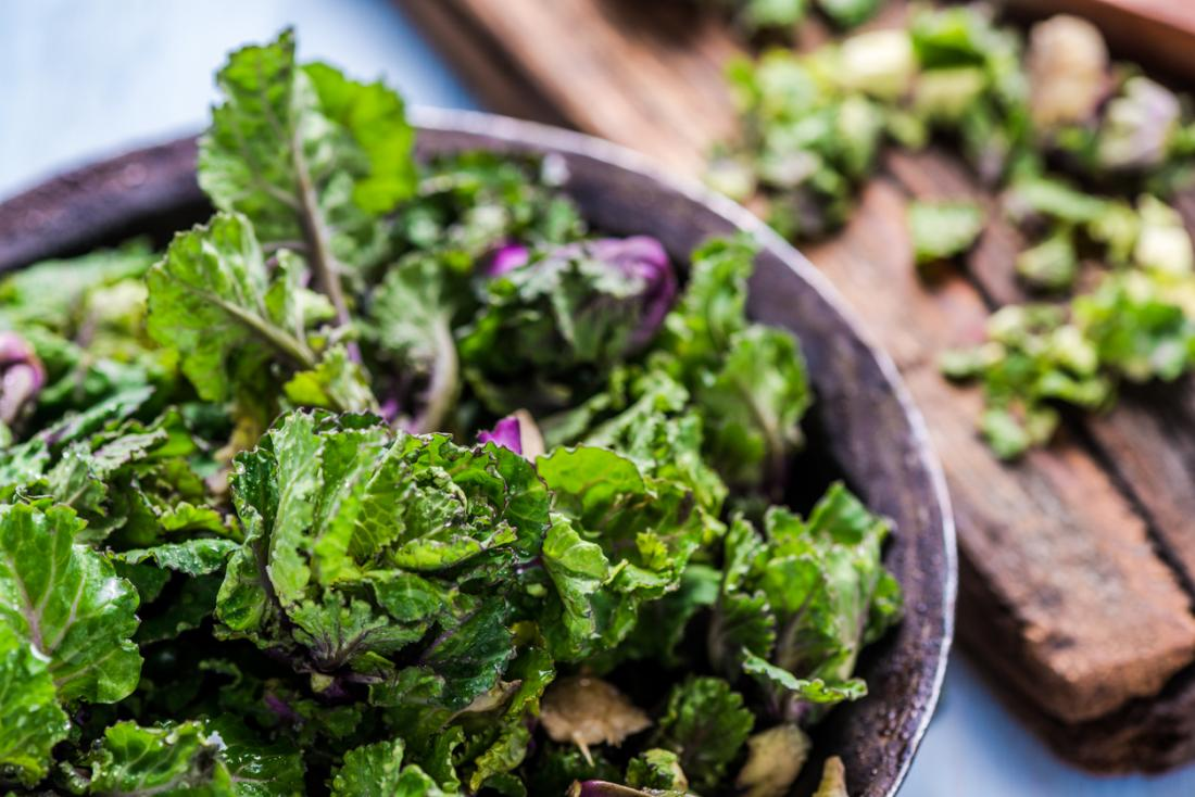 Kale and leafy greens are rich in essential nutrients.