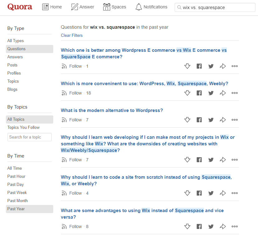 Many consumers conduct competitive research on Quora