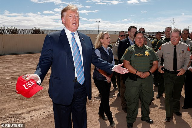 Nielsen was with President Trump when he visited the border on Friday