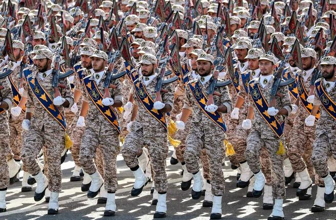 Members of Iran's Revolutionary Guard Corps march during a parade in Tehran. (AFP/ File)