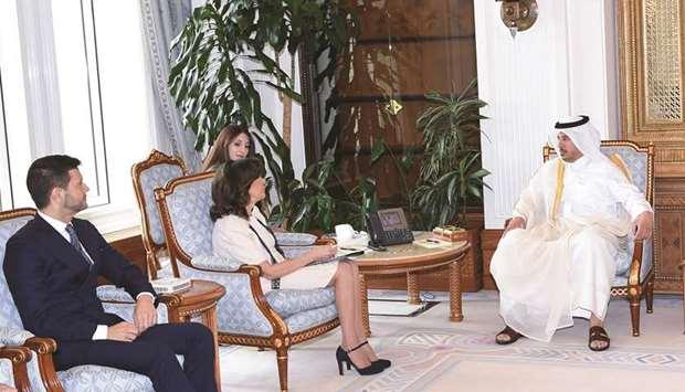 PM meets Italian Senate president