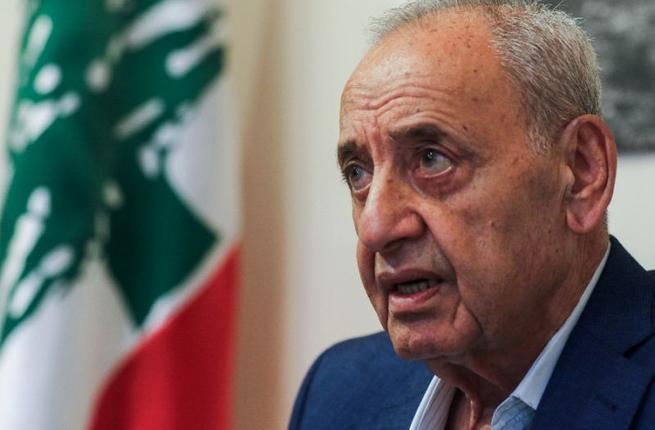 Lebanese Parliament Speaker Nabih Berri gives an interview to AFP. (AFP/ File Photo)