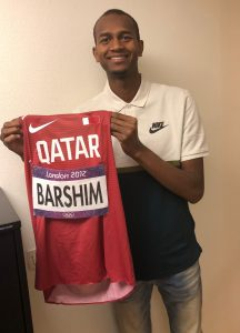 Barshim and Samba Donate Olympic and Continental Cup Kit to IAAF