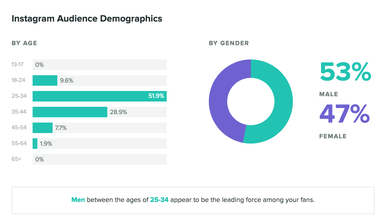 instagram audience demographic report from sprout