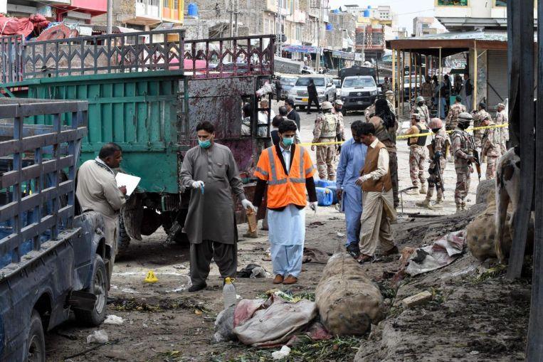 Pakistan market bomb kills 16, half of them minority Hazaras