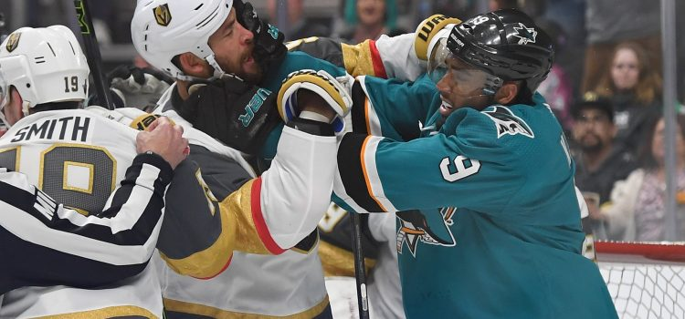 NHL playoffs 2019: Sharks' Evander Kane, Golden Knights' Ryan Reaves exit after late-game scuffle