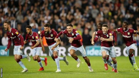 Aston Villa celebrate