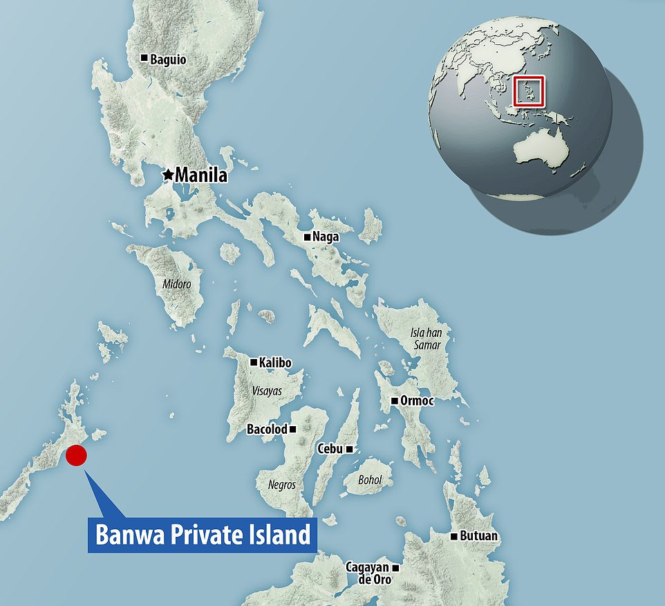 Banwa Private Island is roughly 10 degrees north of the Equator - specifically latitude 10°19.15'N, longitude 119°28.85'E