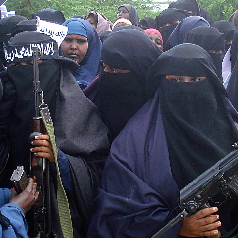 Somali women during an al-Shabab demonstration 2010