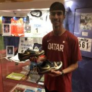 Olympic and 4-Time World Champion Dwight Phillips Donates Spikes to IAAF Heritage Collection