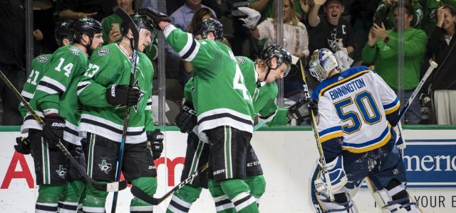 Stars top Blues 4-2 in Game 4 to even series at 2-2
