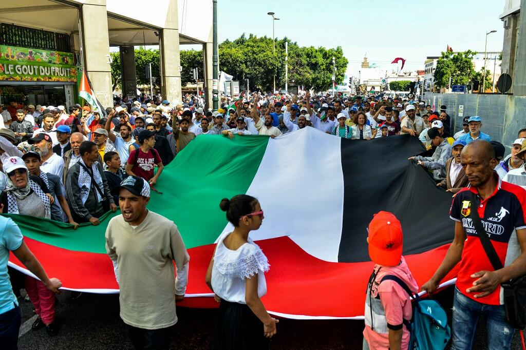 Thousands Protested on Sunday in Morocco Against a Planned Conference in Bahrain