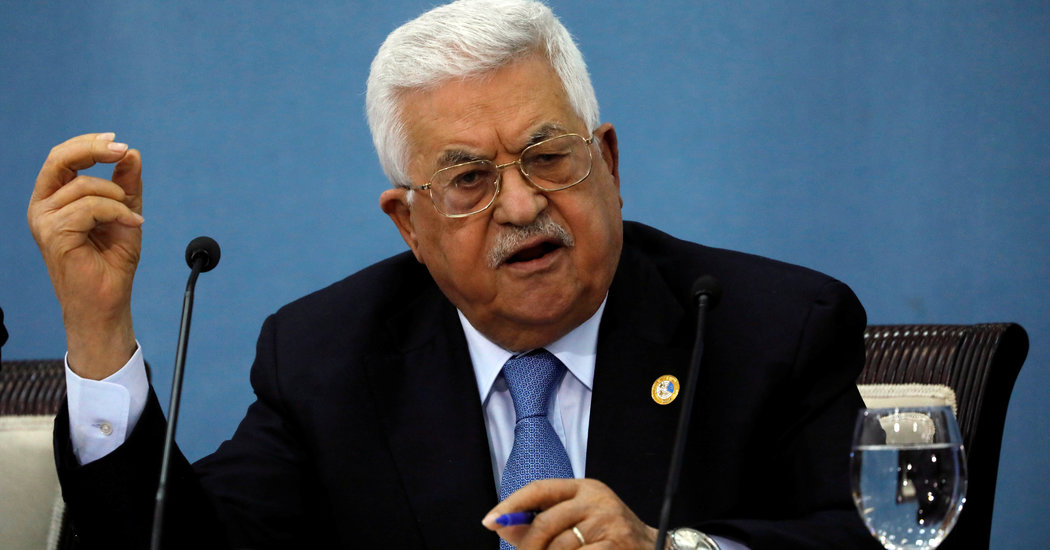 Palestinian Leader, Mahmoud Abbas, Dismissed a New Effort by the Trump Administration Plan for Investment