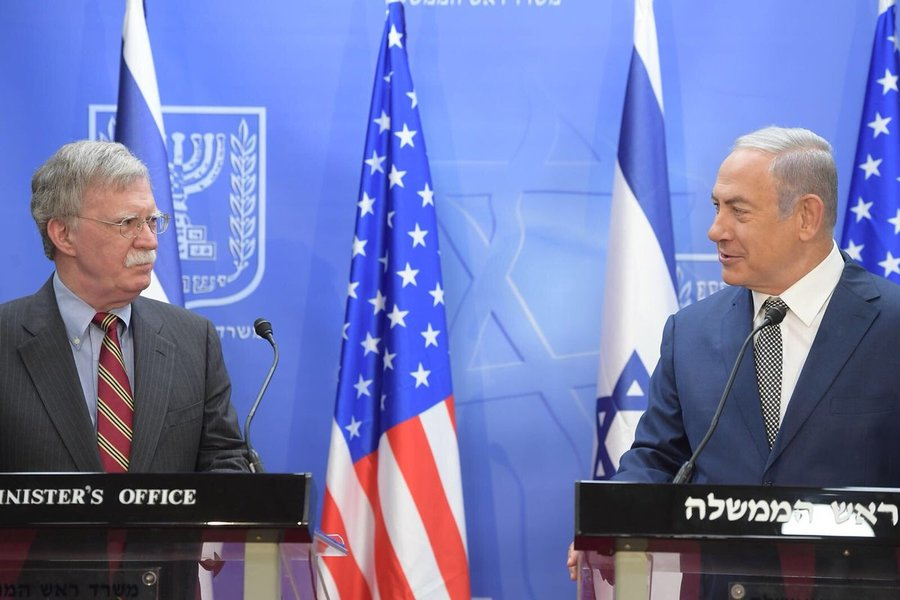 U.S. National Security Adviser Bolton Arrives in Israel Ahead of Tripartite Security Meeting
