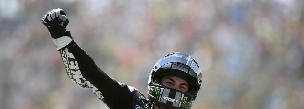 Maverick Vinales held off world champion Marc Marquez to win his first MotoGP race of the season at the Motul TT Assen
