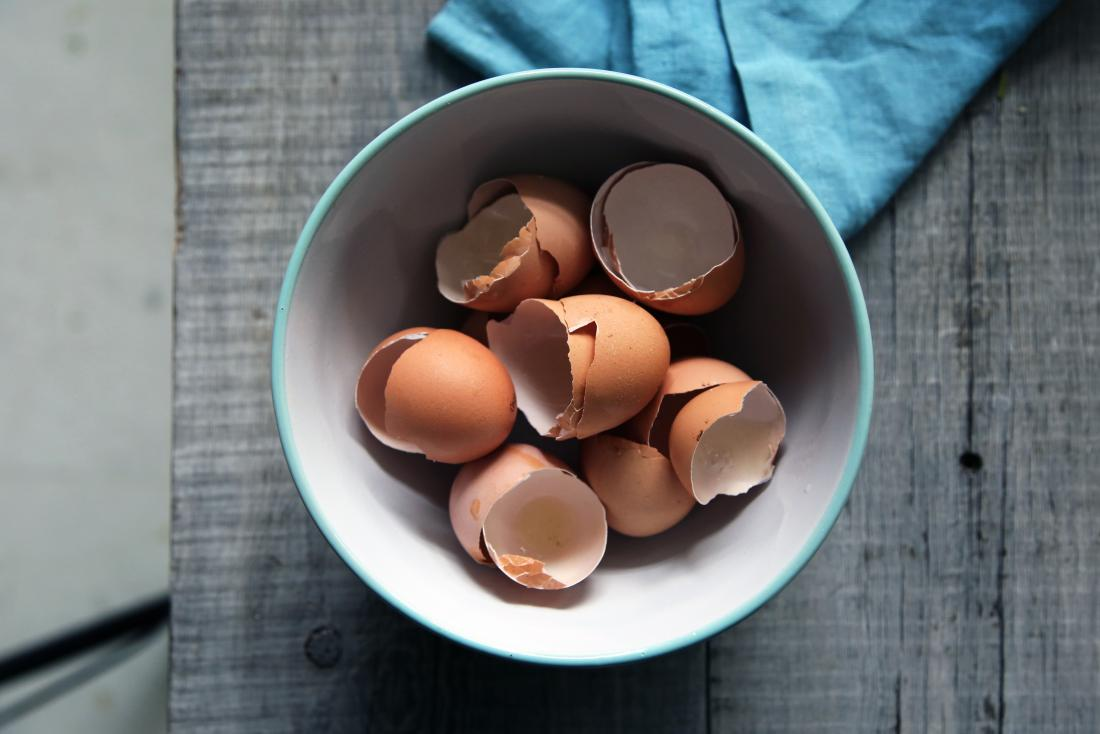 bowl containing eggshells