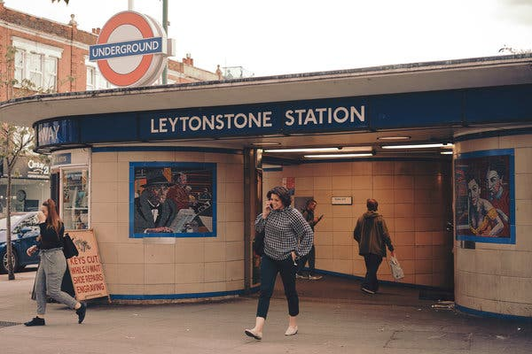"""Leytonstone Station is the home of 16 mosaics that are a homage to the director Alfred Hitchcock and his films. """"I think people would pay to see if it was put up in an art gallery,"""" Mr. Curtis said."""