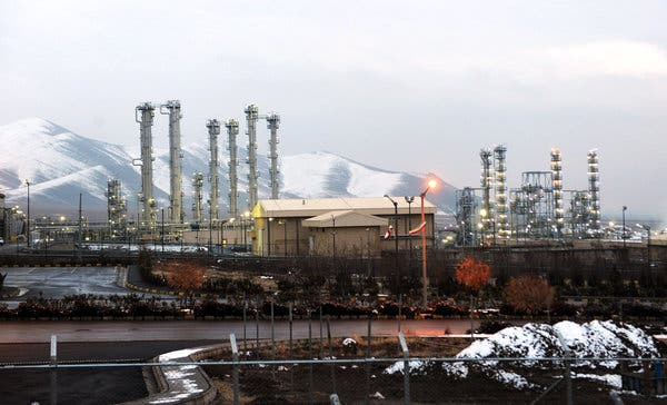 The water facility at Arak. Iran poured cement into the core of the plutonium reactor there, preventing it from taking another path to a bomb. In recent days, however, Iranian leaders have threatened to reverse those steps.
