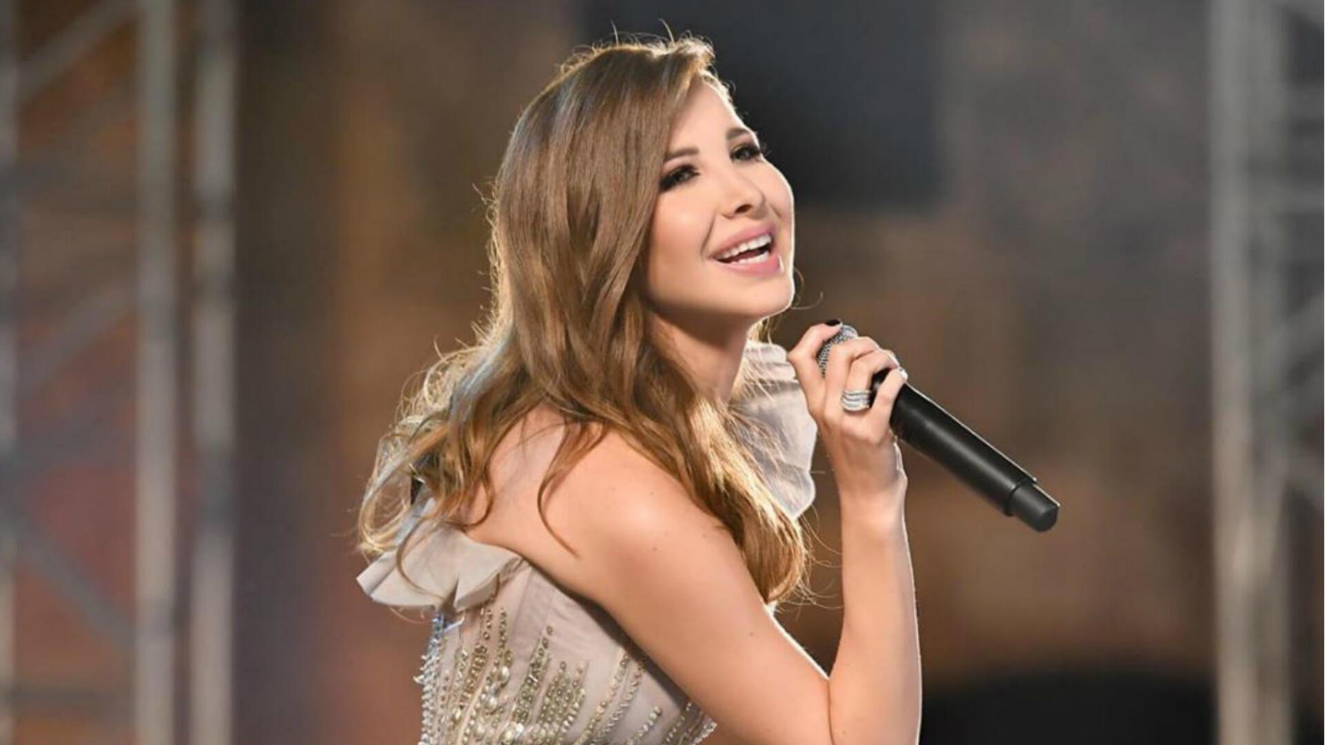 Lebanese Star Nancy Ajram Performs in a Huge Concert Jerash Festival