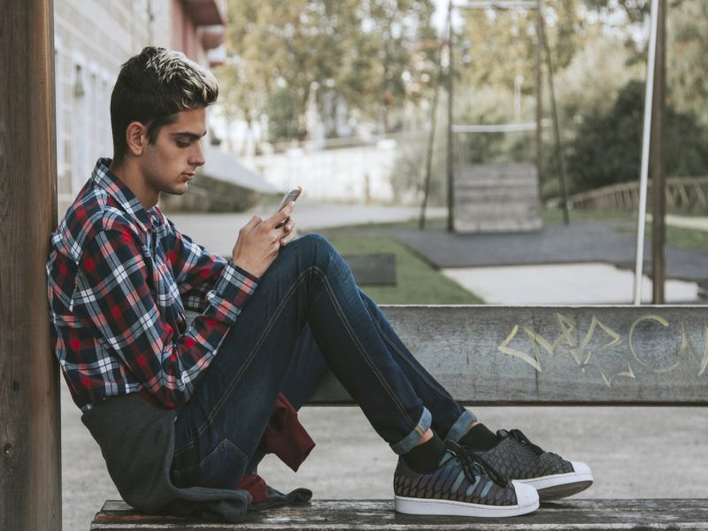 News Picture: Too Much Social Media a Depression Risk for Teens