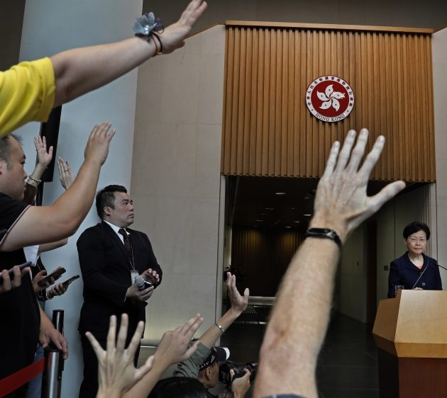 Hong Kong's Chief Executive Carrie Lam Offers Talks with Critics But Shuns Protesters' Demands