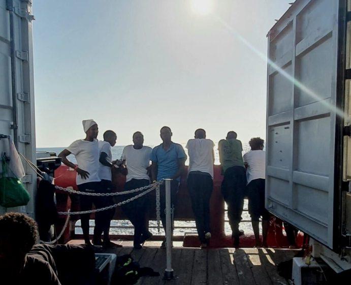 Norwegian-flagged Ocean Viking Rescue Ship Awaiting Port Access