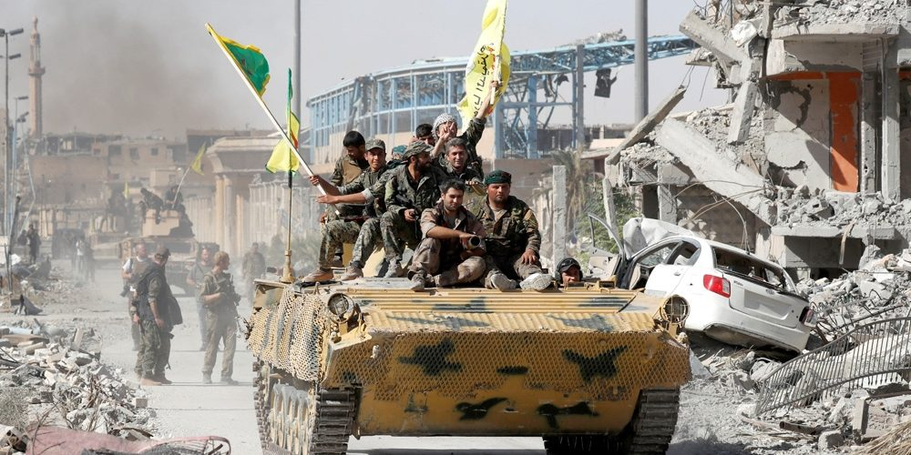 Syrian Kurdish Fighters Start to Withdraw from Turkish Border