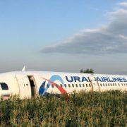 Russian Airplane Made an Emergency Landing in a Cornfield near Zhukovsky International Airport