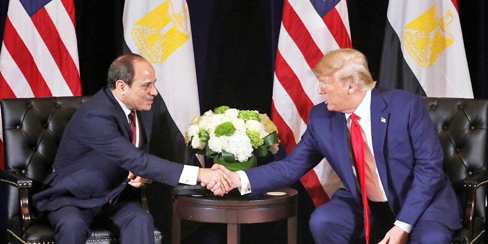 US Trump Throws Support to El-Sisi, 'Not Concerned' with Egypt Protests