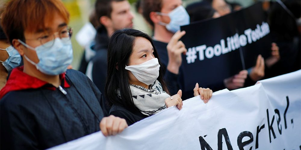 Hong Kong is Bracing for More Demonstrations Over the Weekend as Merkel Calls for Dialogue