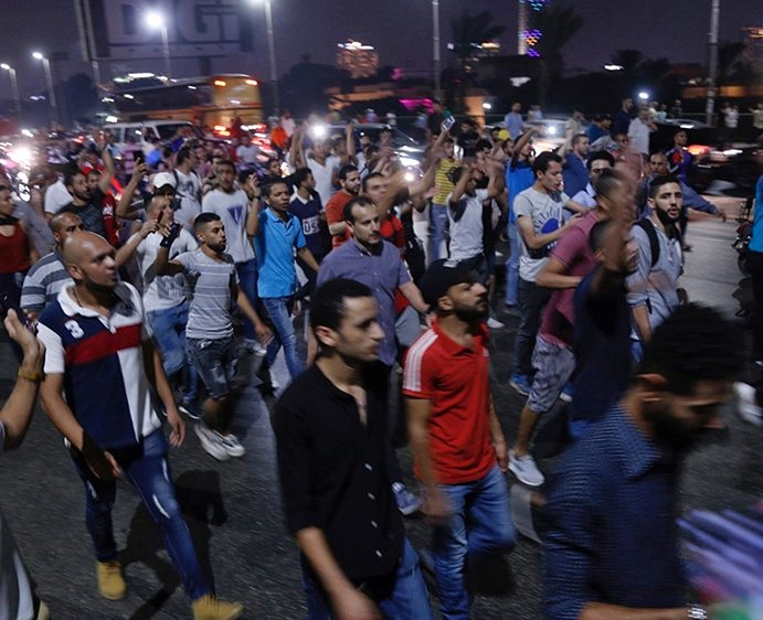 Security Forces in Egypt Have Clashed with Hundreds of Protesters in the Port City of Suez