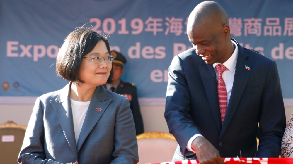 Taiwan's President Tsai Ing-wen visits Haiti