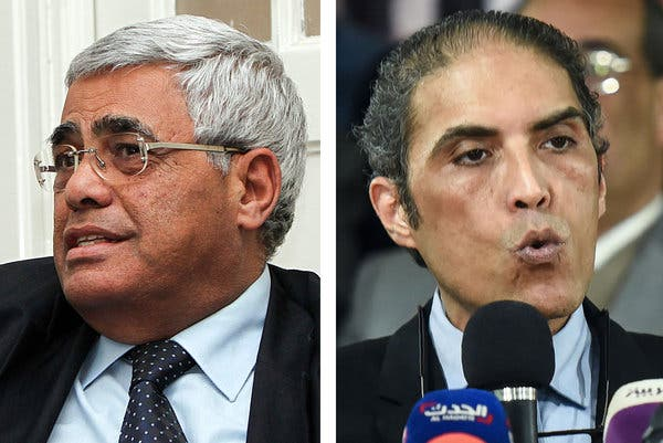 Several activists targeted by the cyberattack were arrested as part of a crackdown on antigovernment protests. They include Hassan Nafaa, left, a political scientist at Cairo University, and Khaled Dawoud, a former journalist and leader of the secular Constitution Party.