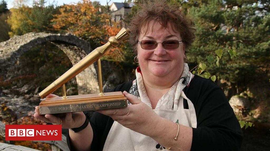 England takes the World Porridge Making title in the Highlands