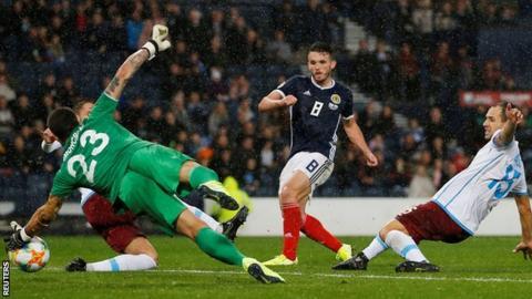 McGinn Treble as Scotland Beat San Marino