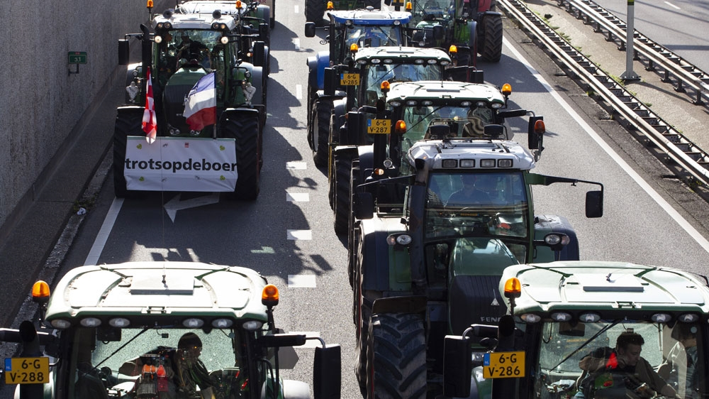 Thousands of Dutch Farmers Protest Over the Netherlands' Efforts to Drastically Reduce Emissions of Greenhouse Gases