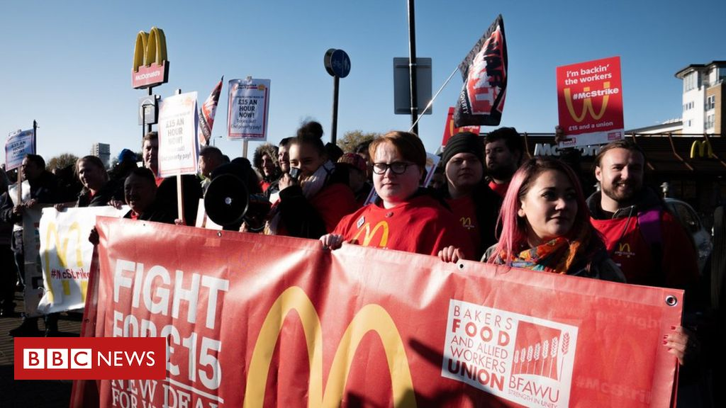 McDonald's UK Staff Join Global Day of Protests Over Pay