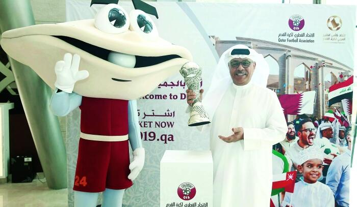 Gulf Cup Mascot in Kuwait on Promotional Tour