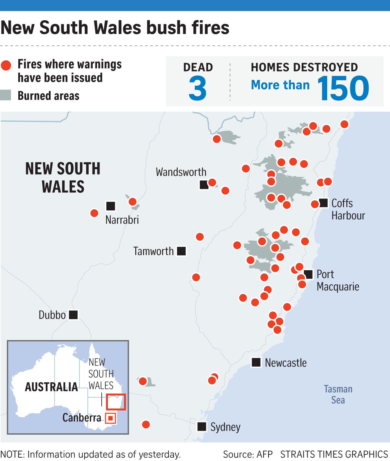 Sydney Declares Emergency as 'Catastrophic' Bush Fires Loom