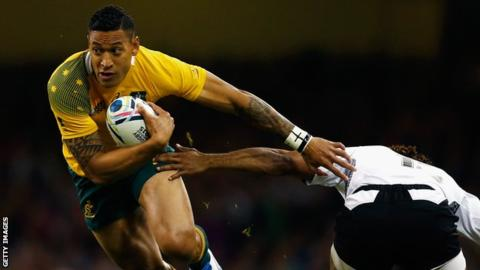 Sacked Australia Rugby Union International Folau Joins Rugby League's Catalans Dragons
