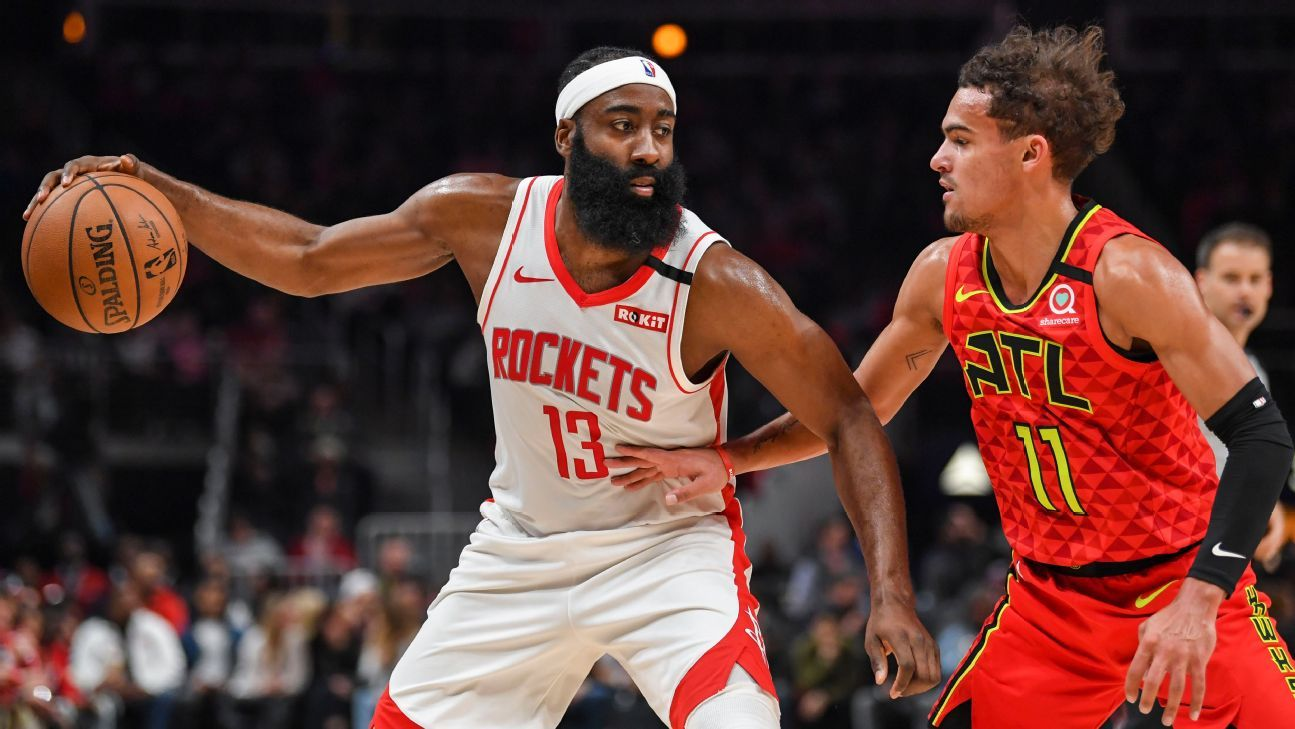 Houston Rockets Guard James Harden Out Against Nuggets with a Left Thigh Contusion