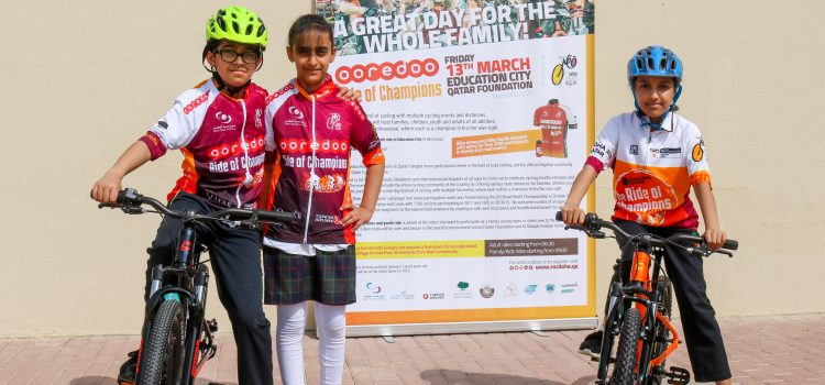 Schools Pledge Support with Hundreds More Children Expected to Participate in this year's Ooredoo Ride of Champions