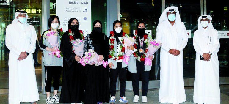 Qatar female paddlers return to Doha