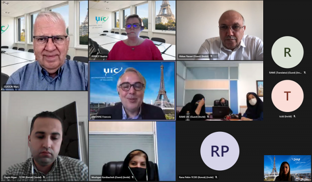 First RAME meeting with Marc Guigon as new coordinator of the UIC Middle East RAME Region