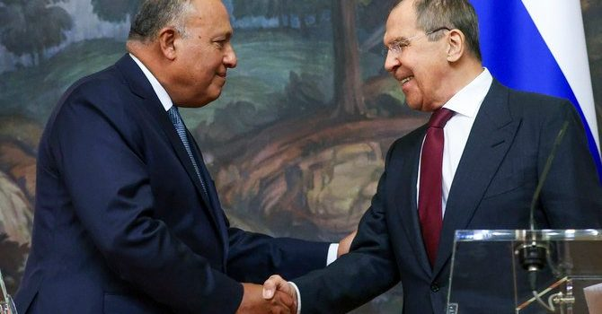 Lavrov, Shoukry Discuss Solutions to Regional Crises in Moscow